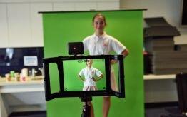 Lesvervanging workshop basischool green screen film