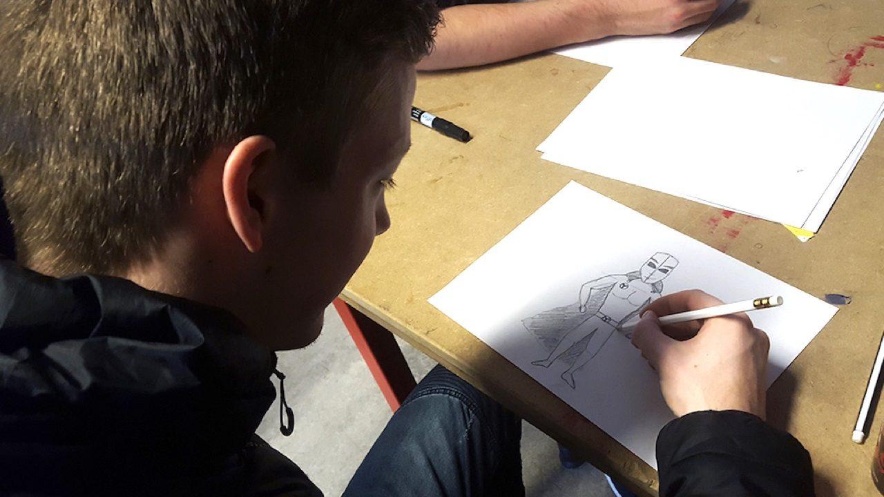 Workshop activiteit basisschool Illustratie