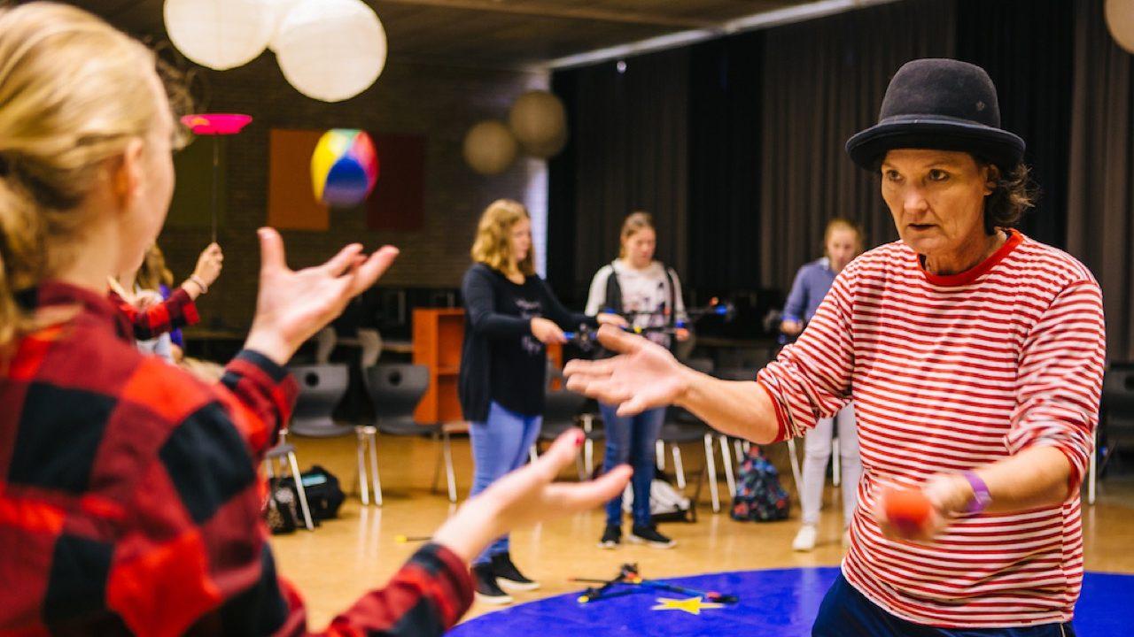 Workshop activiteit basisschool Jongleren 2