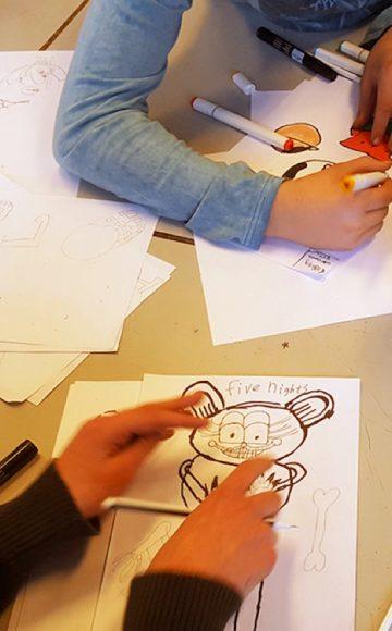 Workshop activiteit basisschool cartoon tekenen 01