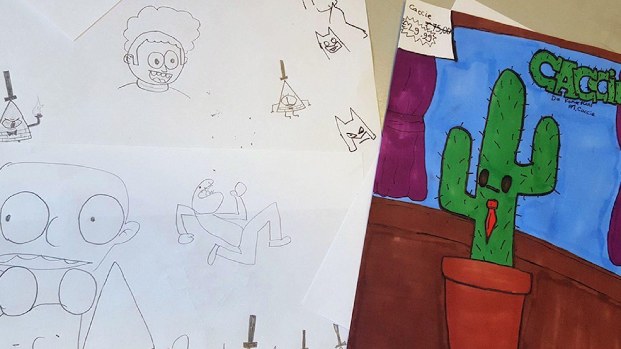 Workshop activiteit basisschool cartoon tekenen 02