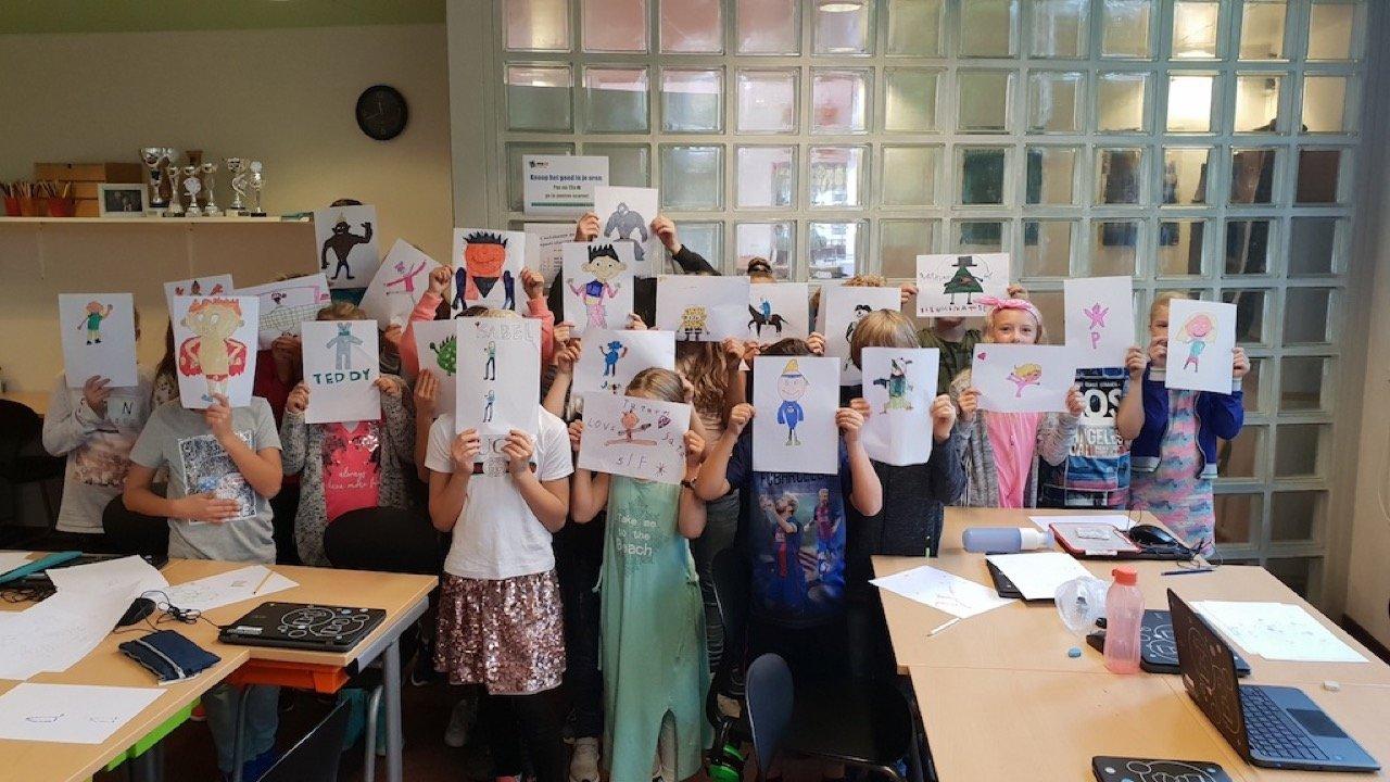 Workshop activiteit basisschool cartoon tekenen 03